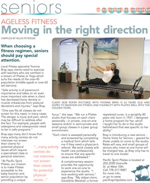 Pilates - Moving in the right direction
