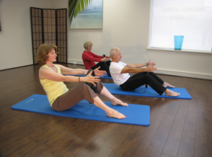 Pilates on Mat - Three people